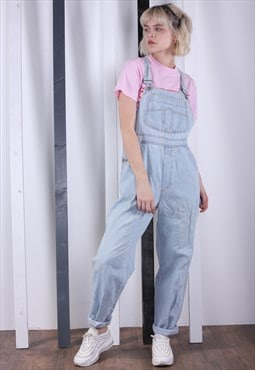Vintage Light Blue Denim Dungarees 90s Overalls. Work Wear