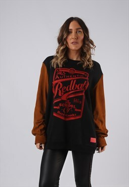 Sweatshirt Print Oversized Suede Long Logo BICH UK 16 (HW5F)
