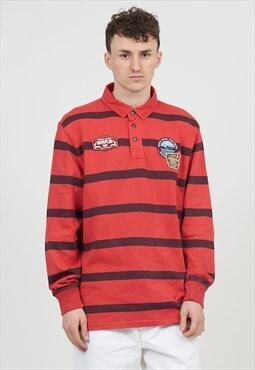 Vintage 90's Patch Napapijri Rugby Shirt