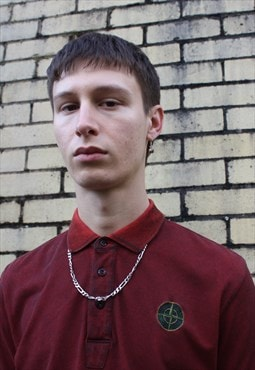 Red Stone Island Polo Shirt