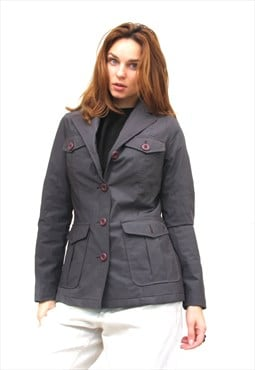 Vintage PVC Fitted Jacket Women Short Fitted Jacket S