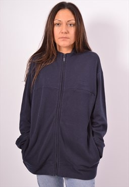 Vintage Reebok Tracksuit Top Jacket Navy Blue
