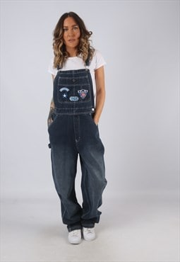 Denim Dungarees DISNEY Wide Leg Vintage  UK 12 (HK3A)