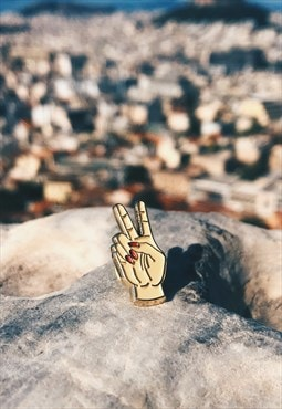 Enamel Pin Peace Sign