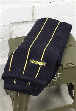 Vintage Wrangler Scarf in Navy w/ Spell Out Logo