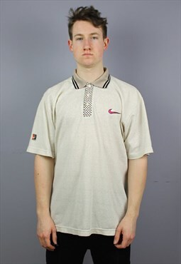 Vintage Nike Challenge Court Polo Shirt in White