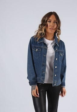 Denim Jacket  CANDA Vintage UK 10 - 12  (G95J)