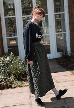 Olive Green - Quilted - Cousin Ben Skirt
