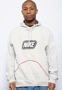 Vintage Nike Logo Hoodie White
