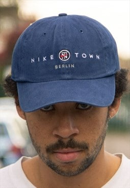 Rare Nike Town Berlin cap in Navy, with green under peak