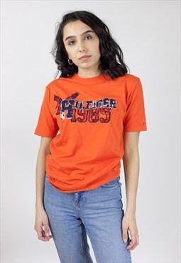 Vintage Tommy Hilfiger Orange T-Shirt