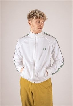 Fred Perry Classic Track Jacket in White