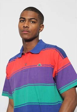 Vintage Robe Di Kappa Polo Shirt Multi-coloured