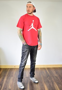 Vintage Nike Air Jordan Red Graphic Print T Shirt