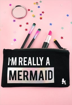 I'm Really A Mermaid Make Up Bag