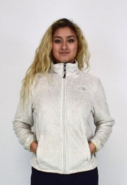 Vintage 90's North Face Cream Zip-up Fleece