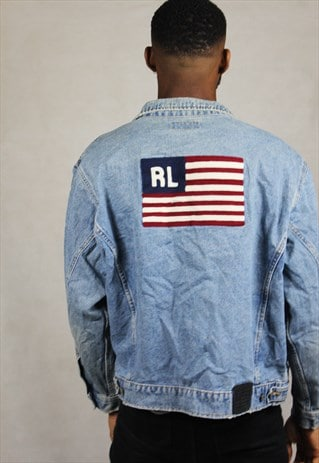 VINTAGE / EARLY 90'S / RALPH LAUREN / DENIM JACKET