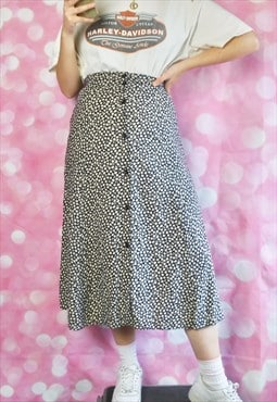 Vintage Button Up Midi Skirt