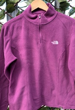 Vintage 90's The North Face Ladies Overhead Fleece