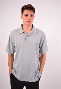 Vintage Champion Polo Shirt Blue