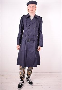 Mens Vintage Coat Medium Blue 90s