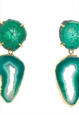 Green 'Summer Love' Crystal Gemstone Earrings