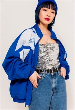 Vintage 90's Blue Shell Jacket
