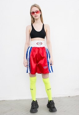 Vintage Boxing Shorts Bright High Waisted Sportswear 90s