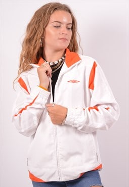 Vintage Umbro Tracksuit Top Jacket White