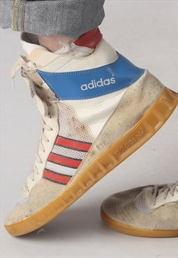 Adidas 1980's West Germany Hi Top trainers UK 10, RARE (L1A)