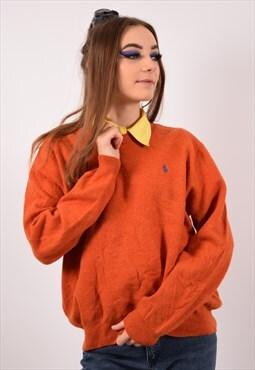 Vintage Polo Ralph Lauren Jumper Sweater Orange