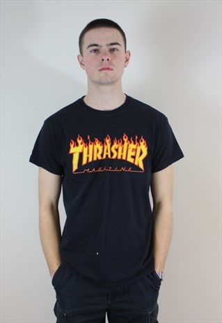Black Thrasher Flame T-Shirt