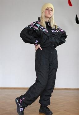 Vintage 80's Ski Suit Jumpsuit Oversall