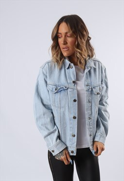 LEE Denim Jacket Oversized Fitted UK 14 (G6AO)
