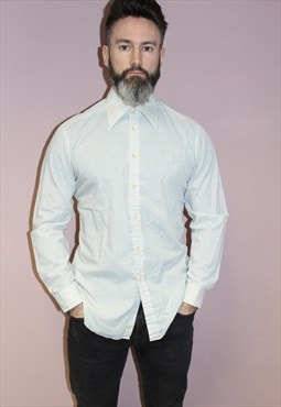 St Michael 90s vintage white shirt with long-point collar