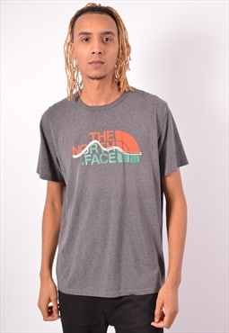 Vintage The North Face T-Shirt Top Grey