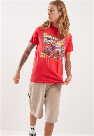 VINTAGE 1991 BEACH RALLEY GRAPHIC T-SHIRT
