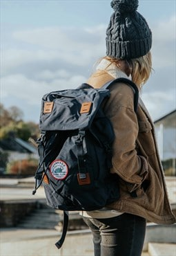 Explorer travelling navy large rucksack Surf Club design