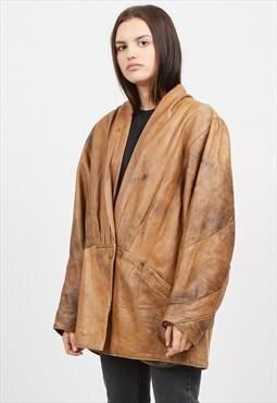 Vintage Brown ALEXANDRA FASHION Leather Jacket