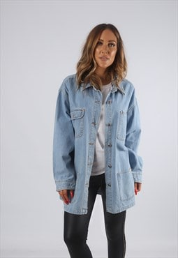 Vintage Denim Jacket Oversized Longline UK 18 XXL (82E)