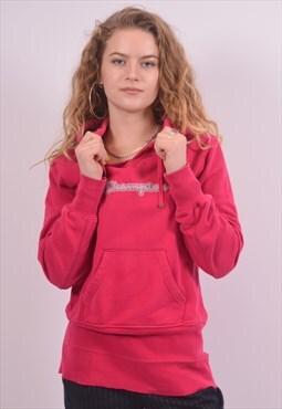 Champion Womens Vintage Hoodie Jumper Medium Pink 90s