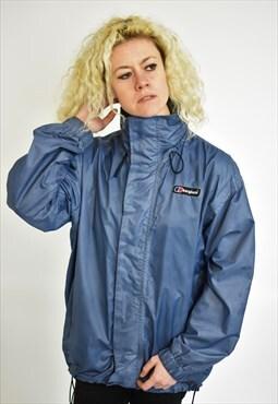Vintage Blue Berghaus Waterproof Coat