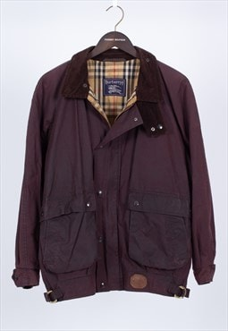 Vintage Brown Waxed Cotton Jacket Burberry .