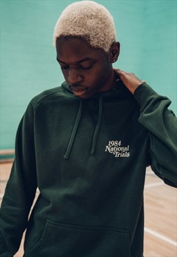 Vice 84 'National Trials' Hoodie in forest green