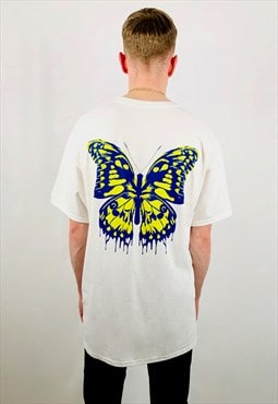 White Butterfly Effect Oversized Unisex Tee