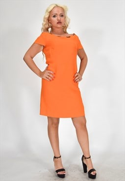 Vintage MOSCHINO Elegant Dress Orange