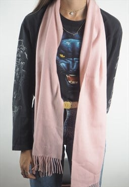 Vintage Pink Cashmere Aquascutum Scarf