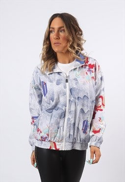 Shell Jacket Bomber Oversized Print Patterned UK 12 (LH2F)