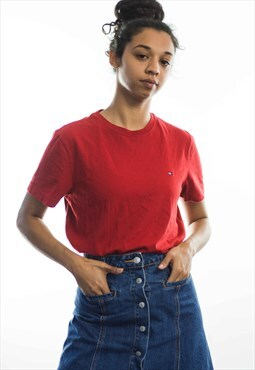 Vintage Tommy Hilfiger Logo T-Shirt 90s S 5.2