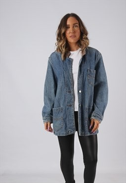 Denim Jacket LEE Oversized Blazer Longline Long  UK 16 (DK4E